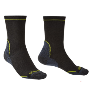 Socken Bridgedale Hike Lightweight Coolmax Performance Boot black/lime/137, bridgedale
