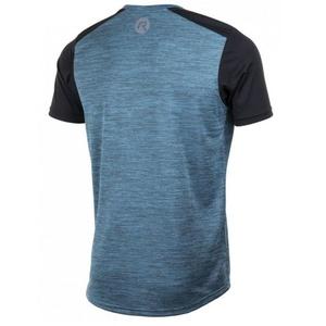 Herren funktionell T-Shirt Rogelli GRAVITY, türkis streifenreflektierend yellow 830.242, Rogelli