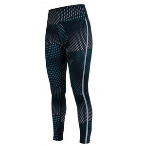 Leggings Salming Split Tights Women Deep Teal AOP, Salming