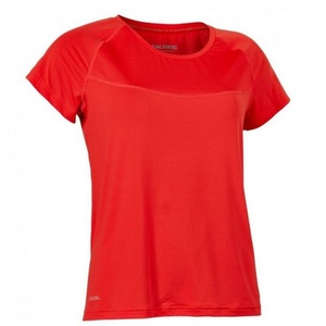 Damen T-Shirt Salming Laser Tee Women Poppy Red Melange, Salming