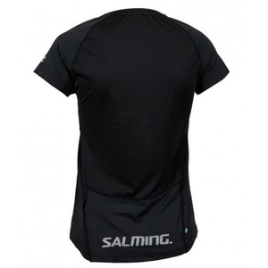Damen T-Shirt Salming Laser Tee Women Black Melange, Salming