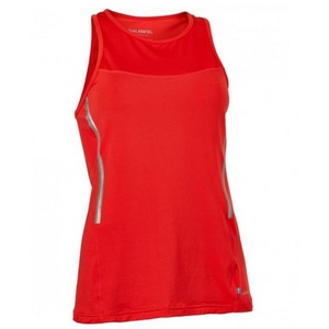 Damen Tank Top/Shirt Salming Laser Tank Women Poppy Red Melange, Salming