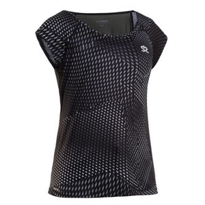 Damen T-Shirt Salming Breeze Top Women Black AOP, Salming