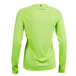 Damen T-Shirt Salming Balance LS Tee Women Sharp Lime, Salming