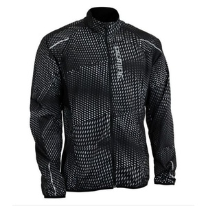 Jacke Salming Ultralite Jacket 3.0 Men Black All Over Print, Salming