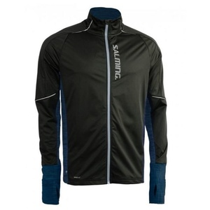 Jacke Salming Thermal Wind Jacket Men Black/Blue Melange, Salming