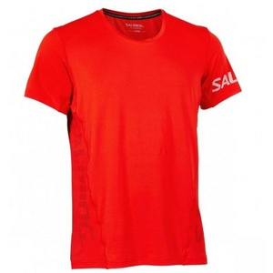 Herren T-Shirt Salming Laser Tee Men Fiery Red, Salming