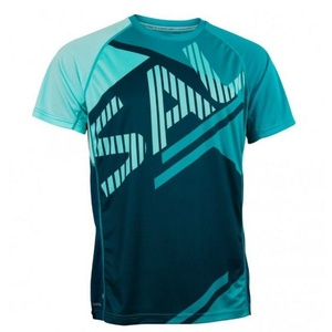 Herren T-Shirt Salming Bold Print Tee Deep Blaugrün / Lapis, Salming