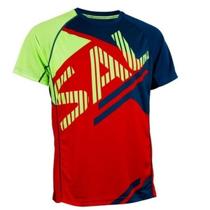 Herren T-Shirt Salming Bold Print Tee Red/Blue, Salming