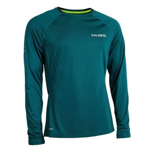 Herren T-Shirt Salming Balance LS Tee Men Deep Teal, Salming
