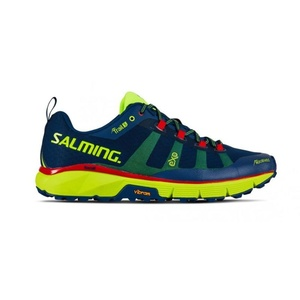 Schuhe Salming Salming Trail 5 Men Poseidon Blau / Sicherheit Yellow, Salming