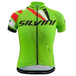 Kinder Radsport Dress Silvini Team CD1435 grün-rot, Silvini