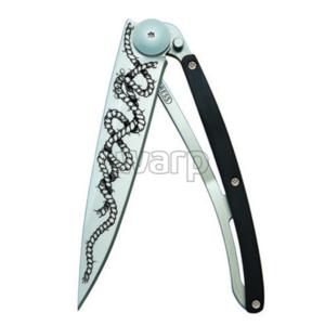 Taschen- Messer Deejo 1CB045 Tattoo 37g ebony holz, Rope, Deejo