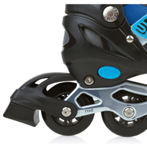 Spokey RISE In-line Skates geregelt, ABEC 7 Carbon schwarz/blau, Grösse. 39-43, Spokey