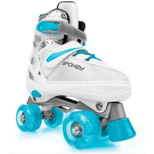 Spokey BUFF Trekking Skates geregelt ABEC 5, weiß und türkis, Grösse. 31-34, Spokey