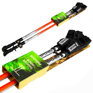 Spokey TIERRA Hole Nordic Walking 2-dílné, Easy klicke Handschuhe System, schwarz-orange, Spokey
