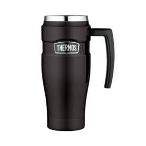 Wasserdichte Thermotasse mit handler Thermos Style düster black 160033, Thermos
