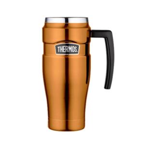 Wasserdichte Thermotasse mit handler Thermos Style Kupfer- 160034, Thermos