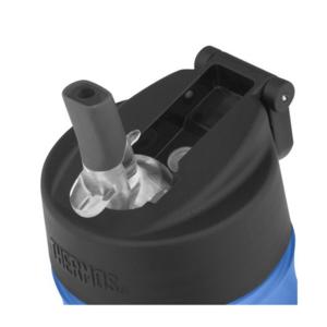 Feuchtigkeits- Flasche mit mit einem strohhalm Thermos Sport red 320142, Thermos