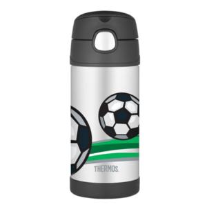 Kinder Thermosflasche mit mit einem strohhalm Thermos Funtainer Fußball, Thermos