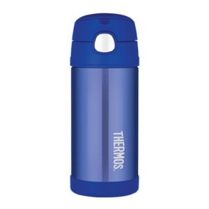 Kinder Thermosflasche mit mit einem strohhalm Thermos Funtainer blue, Thermos