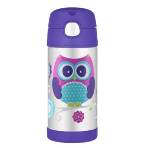 Kinder Thermosflasche mit mit einem strohhalm Thermos Funtainer eule, Thermos