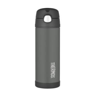 Kinder Thermosflasche mit mit einem strohhalm Thermos Funtainer black, Thermos