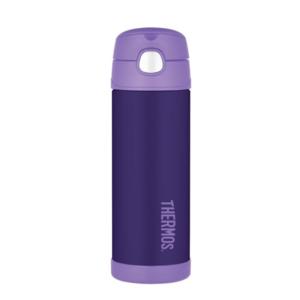 Kinder Thermosflasche mit mit einem strohhalm Thermos Funtainer violet 120020, Thermos