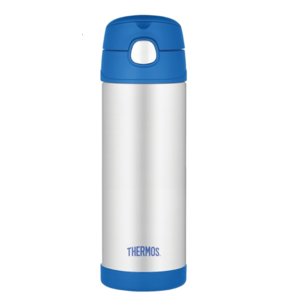 Kinder Thermosflasche mit mit einem strohhalm Thermos Funtainer blue 470ml 120022, Thermos