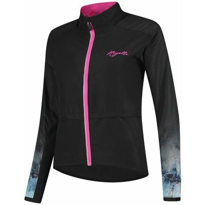 Damen Lauf Windjacke Rogelli MARBLE, schwarz-pink 840.852