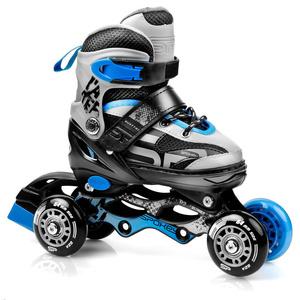 Skates Spokey QUATUTRO 4IN1 schwarz/blau, geregelt, Spokey
