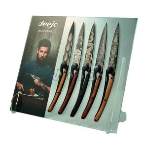 Ständer Deejo DEE051 POS Plexi für 5 St. tasche Messer Deejo, Deejo