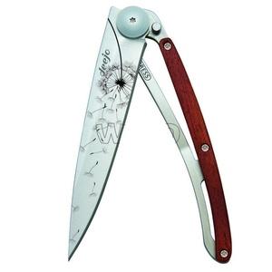 Taschen- Messer Deejo 1CB057 Tattoo 37g, ebony holz, Make a wünschen, Deejo