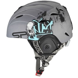 Spokey ALBERTA Ski Helm grey mit graffiti Grösse. M, Spokey