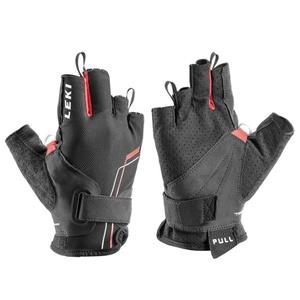 Handschuhe LEKI Nordic Breeze Shark Short 649703302 black / rot / weiß, Leki