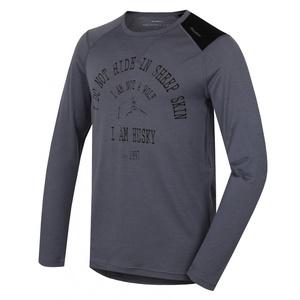 Herren Merino T-Shirt Husky Wolf grey, Husky