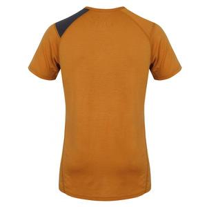 Herren Merino T-Shirt Husky Dog braun-orange, Husky