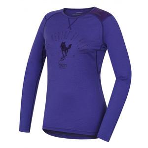Damen Merino T-Shirt Husky Sheep šedofialová, Husky