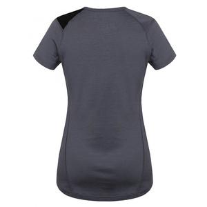 Damen Merino T-Shirt Husky Puppy grey, Husky