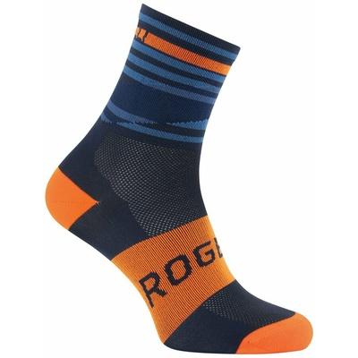 Design funktionell Socken Rogelli STRIPE, orange-blau 007.205, Rogelli