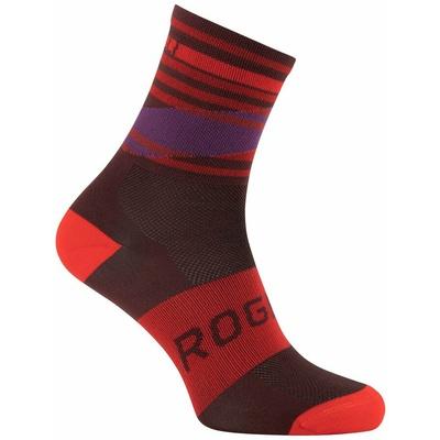 Design funktionell Socken Rogelli STRIPE, rot-burgunder-violett 007.206, Rogelli