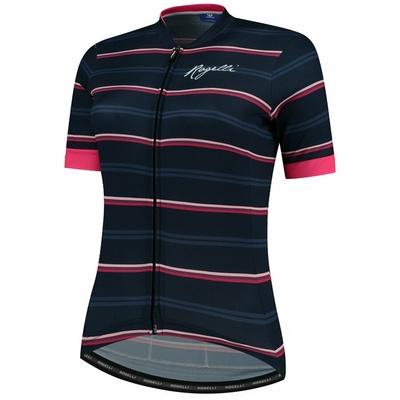 Damen Radsport Dress Rogelli STRIPE mit kurz Ärmeln, blau-pink 010.148, Rogelli