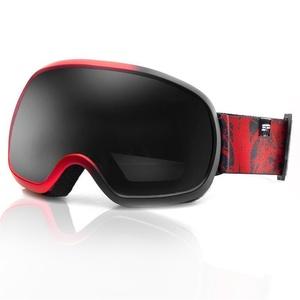 Spokey PARK Ski Brille schwarz und rot, Spokey