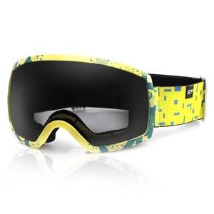 Spokey RADIUM Ski Brille schwarz und gelb, Spokey