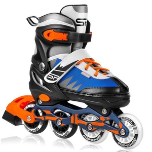 In-line Skates Spokey TONY schwarz-blau-orange ABEC7 Carbon, Spokey