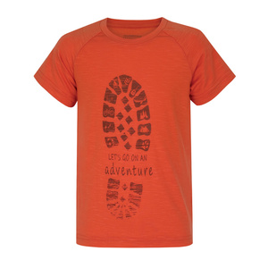 Kinder T-Shirt Husky Zingl Kids Ziegelfarbe, Husky