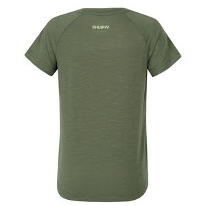 Kinder T-Shirt Husky Zingl Kids dunkelgrün, Husky