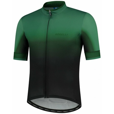 Design Trikot Rogelli HORIZON mit kurz Ärmeln, schwarz/grün 001.417, Rogelli