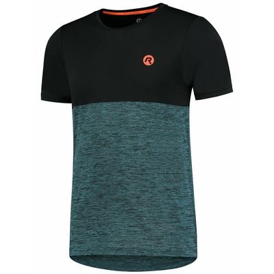 Herren Sport- T-Shirt Rogelli WESEN mit kurz Ärmeln, schwarz-türkis 830.246, Rogelli