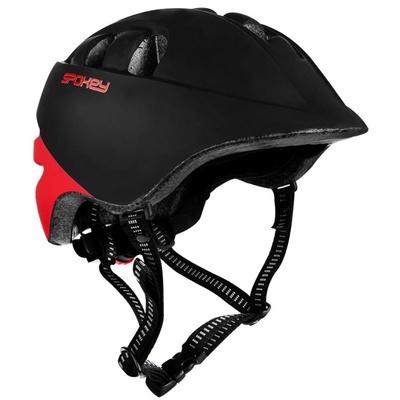 Fahrradhelm für Kinder Spokey CHERUB 48-52 cm, schwarz und rot, Spokey